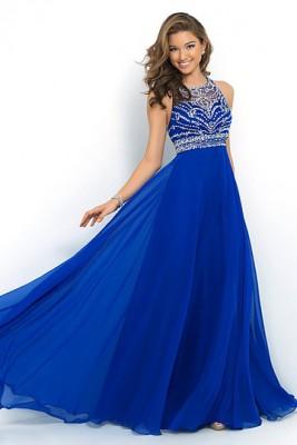 Mavi Nişan Elbise Modelleri