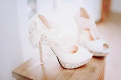 En Güzel Dantelli Gelin Ayakkabı Modelleri