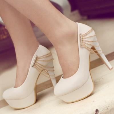 Zincir Süslemeli Çok Zarif Nişan Ayakkabı Modelleri