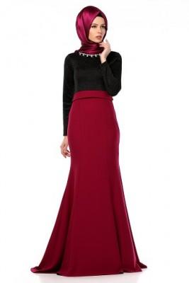 Sade ve Çok Şık Tesettür Söz Elbise Modelleri