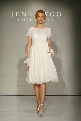 En Moda Güpürlü Kısa Gelinlik Modelleri 2016
