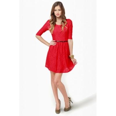 Kırmızı Renkli Nikah Elbiseleri