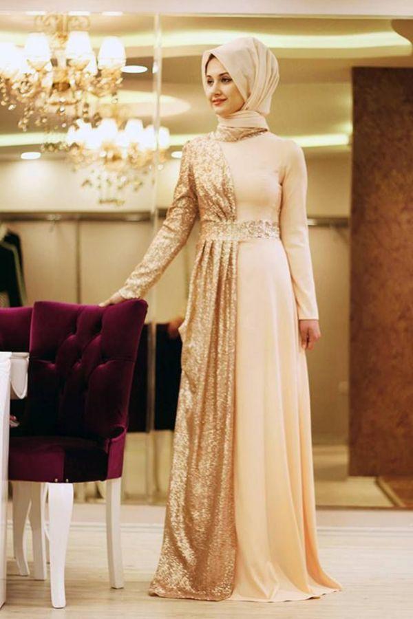 En Yeni Tesettür Nişan Elbise Modelleri