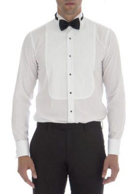 Slim Fit Sarar Damat Gömlek Modeli ve Papyon Kombini